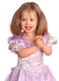 усмехаться портрета платья ребенка стоковая фотография rf