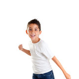 усмехаться пунша жеста детей мальчика смешной Стоковые Изображения