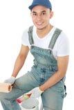 Усмехаться работника колеривщика Стоковая Фотография