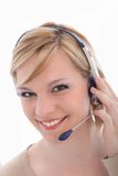 усмехаться работника центра телефонного обслуживания Стоковое Изображение