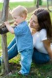 усмехаться ребенка Стоковая Фотография