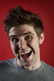 усмехаться рта человека открытый Стоковая Фотография