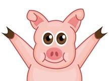 Усмехаться свиньи вектора счастливый иллюстрация штока