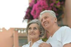 усмехаться старшия пар Стоковое Изображение