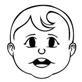 усмехаться стороны dof ребёнка отмелый иллюстрация вектора