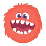 Усмехаться счастливого изверга шаржа головной также вектор иллюстрации притяжки corel бесплатная иллюстрация