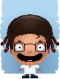 Усмехаться ученого девушки шаржа иллюстрация штока