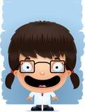 Усмехаться ученого девушки шаржа бесплатная иллюстрация