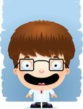 Усмехаться ученого мальчика шаржа бесплатная иллюстрация