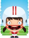 Усмехаться футболиста девушки шаржа иллюстрация штока