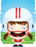 Усмехаться футболиста девушки шаржа бесплатная иллюстрация