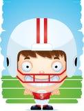 Усмехаться футболиста мальчика шаржа бесплатная иллюстрация
