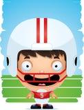Усмехаться футболиста мальчика шаржа иллюстрация штока
