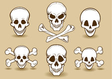 усмехаться черепа косточек перекрестный Стоковые Фото