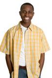 усмехаться чернокожего человек Стоковая Фотография