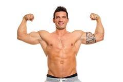 усмехаться человека мышечный Стоковое фото RF
