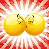 усмехаться шарика Стоковое Изображение