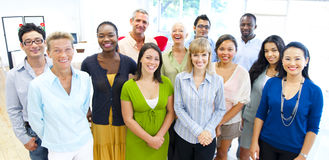 усмехаться людей бизнес-группы Стоковое фото RF