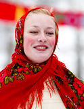 усмехаться девушки costume национальный Стоковое Изображение