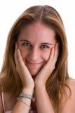 усмехаться 2 девушок Стоковое Фото