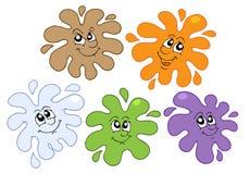 усмехаться 2 цветов брызгает иллюстрация штока