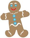 усмехаться gingerbread печенья Стоковая Фотография