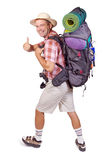усмехаться hiker Стоковые Фотографии RF