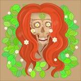 Усмехаться hippie черепа Стоковая Фотография RF