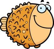 Усмехаться Pufferfish шаржа иллюстрация вектора