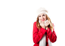усмехаться redhead камеры холодный смотря Стоковые Изображения RF