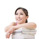 Усмехаясь азиатская женщина Стоковое фото RF
