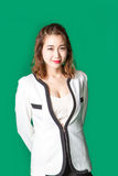 Усмехаясь азиатская тайская дама в носке дела Стоковое фото RF