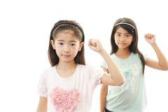 Усмехаясь азиатские девушки Стоковое Изображение RF