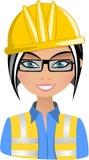 Усмехаясь архитектор женщины иллюстрация вектора