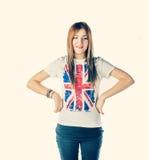Усмехаясь белокурые с волосами женщины Стоковая Фотография