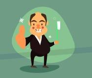 Усмехаясь бизнесмен с зубом золота Иллюстрация штока