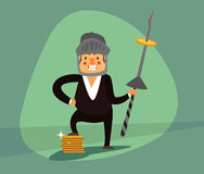 Усмехаясь бизнесмен eps 10 Бесплатная Иллюстрация
