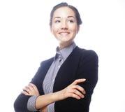 Усмехаясь бизнес-леди стоковое изображение