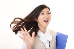 Усмехаясь бизнес-леди стоковое фото rf