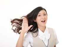 Усмехаясь бизнес-леди стоковое изображение rf