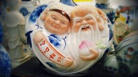 Усмехаясь ваза Китая Стоковые Фотографии RF