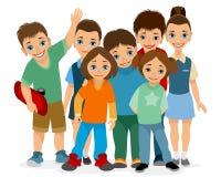 Усмехаясь дети различных времен Стоковые Изображения