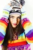 Усмехаясь девушка зимы Стоковые Изображения RF