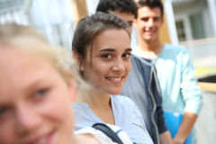 Усмехаясь девушка студента Стоковое Изображение