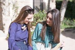 2 усмехаясь женщины внешней Стоковое Изображение RF