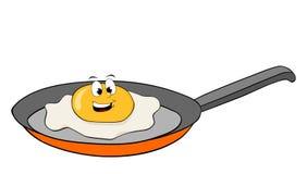 Усмехаясь изолированный персонаж из мультфильма яичка - Стоковое Изображение