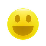 Усмехаясь или смеясь над смайлик Стоковая Фотография