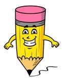 Усмехаясь карандаш шаржа Стоковая Фотография