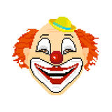 Усмехаясь клоун в стиле искусства пиксела Стоковое фото RF
