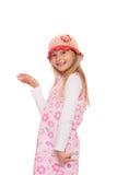 Усмехаясь маленькая девочка с крышкой knit Стоковое фото RF